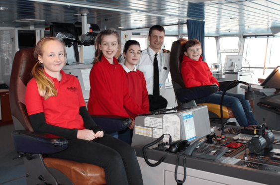 Pupils have taken over safety announcements on board NorthLink Ferries