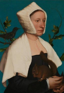 A Lady with a Squirrel and a Starling by Hans Holbein.