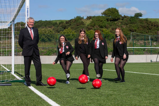 The initiative was launched at Lochside Academy.