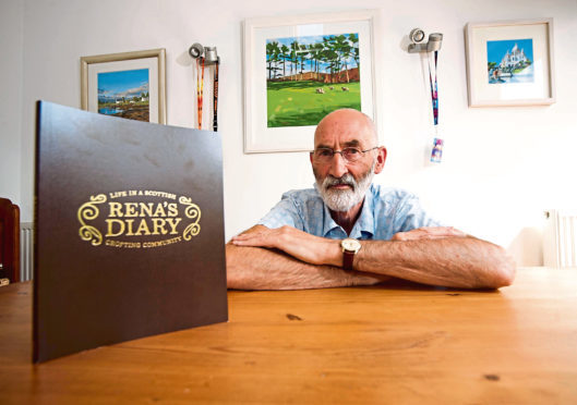 Kenneth MacLennan of Fochabers, found an old war-time diary of his aunt's and has written a book based on it