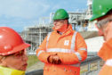 Totals Chairman and CEO, Patrick Pouyanne, at the Shetland Gas Plant.