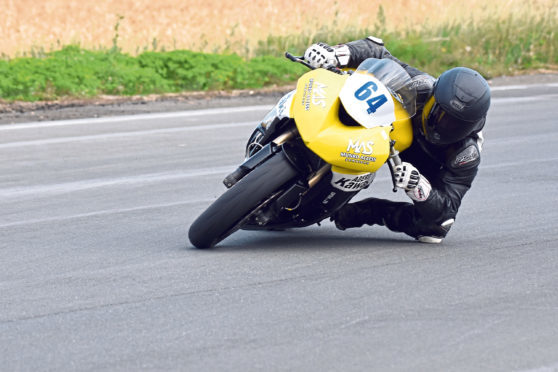 Insch rider Sam Munro has long-term aims of reaching the British Superbike Championship. Picture: Jennifer Charlton.