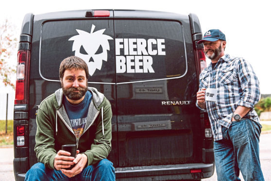 Fierce Beer's duo, operations director Dave McHardy  (left) and managing director Dave Grant
