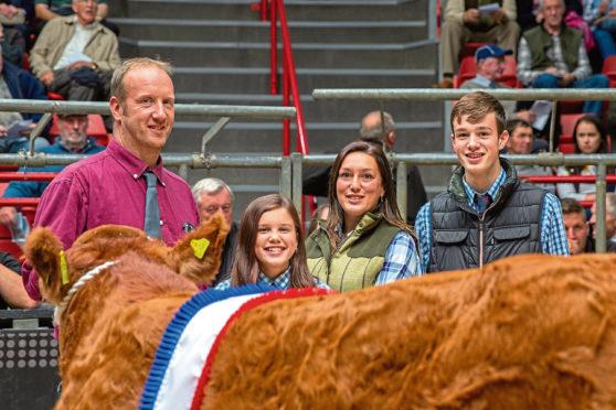 Mark, Tilly, Duncan and Debbie Munro from Invercharron Farm, Ardgay, Sutherland.