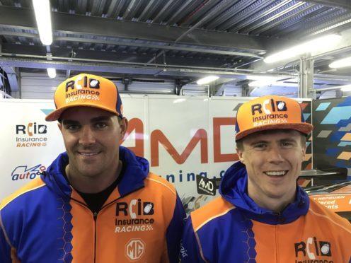 Glynn Geddie (left) with his AmDEssex team-mate Rory Butcher.c