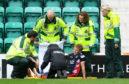 Jamie Lindsay was carried off against Hibernian last weekend.