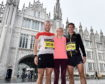 Metro Aberdeen's Kyle Greig, Fiona Brian and Tom Brian.