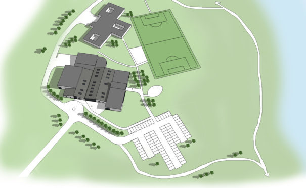 A site plan of Lee McAllister's proposed Assassin Health and Fitness Village on the site of the former Cordyce School.