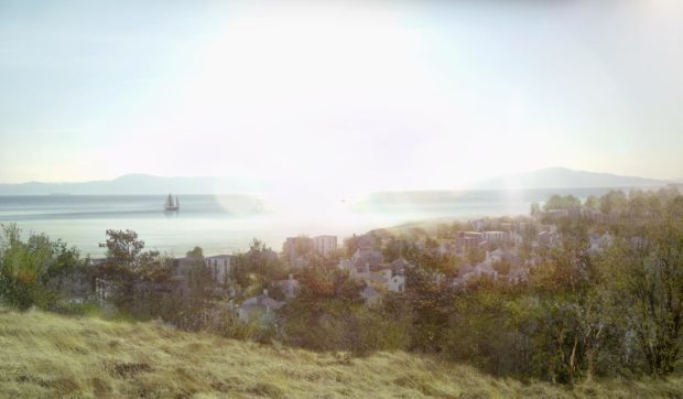 Artist's impressions of the masterplan for houses between Oban and Dunbeg.