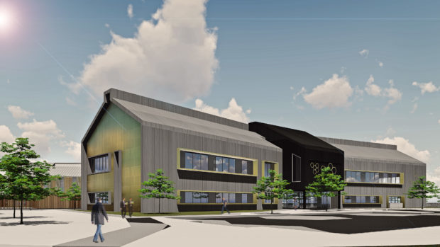 An artist's impression of the new building at Inverness Campus.