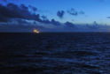 View from the Gullfaks C platform in the North Sea.