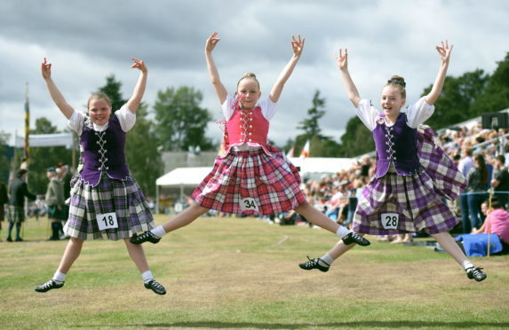 Organisers of Aboyne Highland Games have donated £2,000 to four community groups