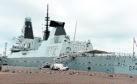 HMS Diamond at Aberdeen harbour.