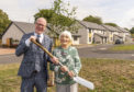 This is a n image from the visit of MSP Kevin Stewart, Housing Minister to Siwalik Road, Forres, Moray on Monday 20 August 2018. Photographed by Brian Smith T/A Jasperimage. © PICTURE CONTENT:- MSP Kevin Stewart, Housing Minister and Siwalik Road resident Lily Hendry