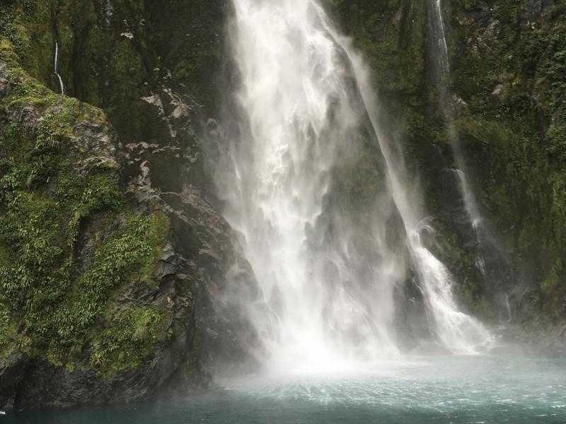 New Zealand - Milford Sound Waterfall