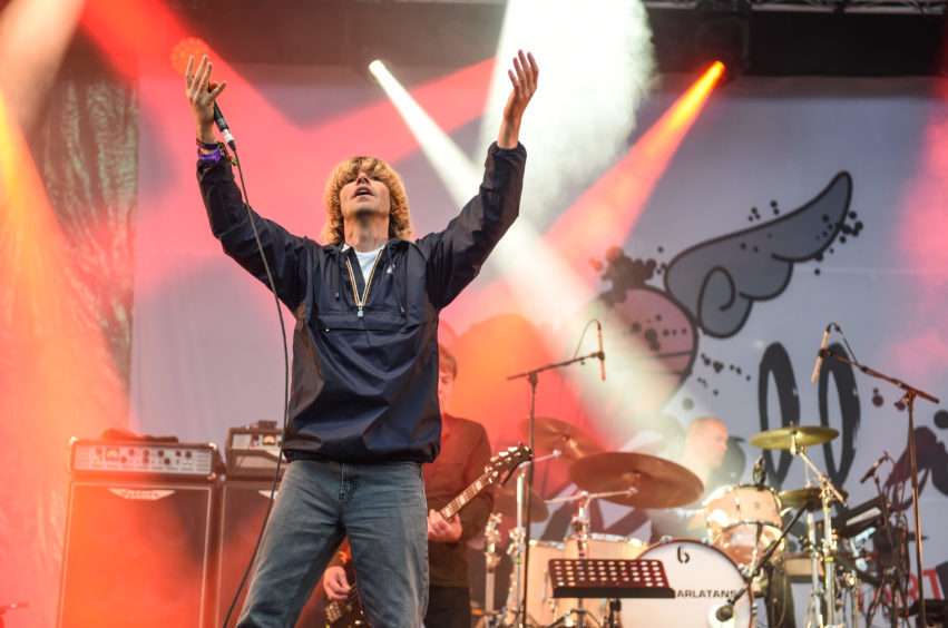 The Charlatans perform on the Garden stage