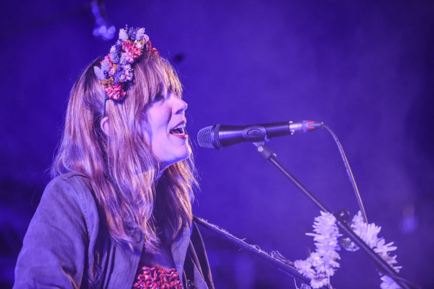 Beth Orton performs on the Grassroots stage