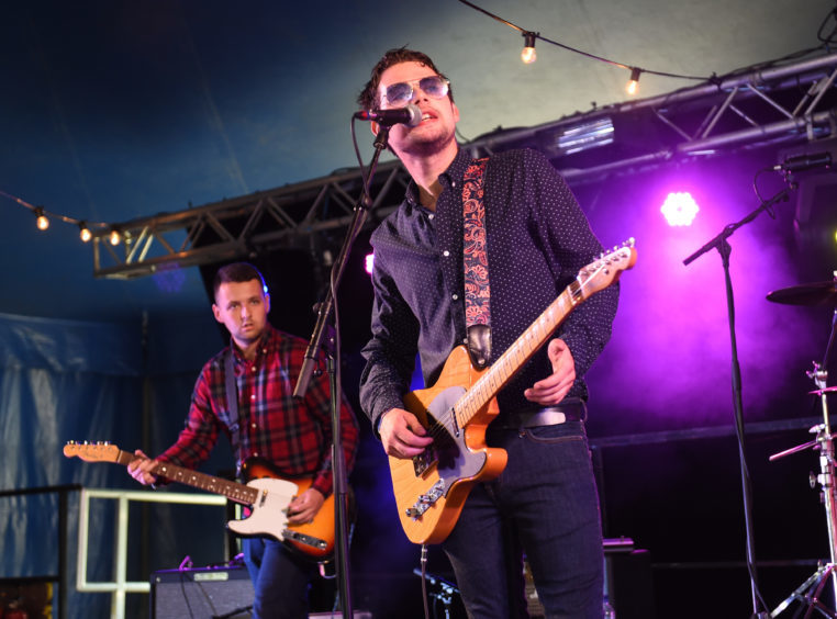 The Carloways perform on the Grassroots stage.