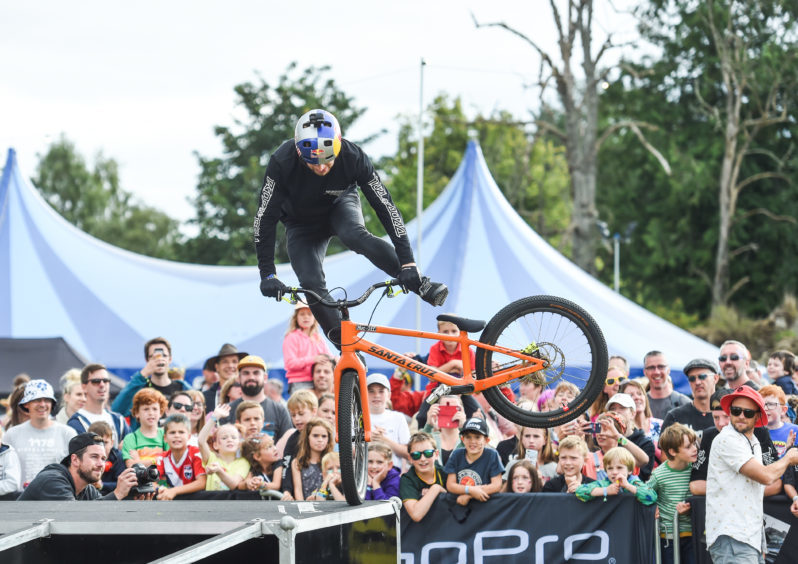 Danny Macaskill and team entertain the crowds