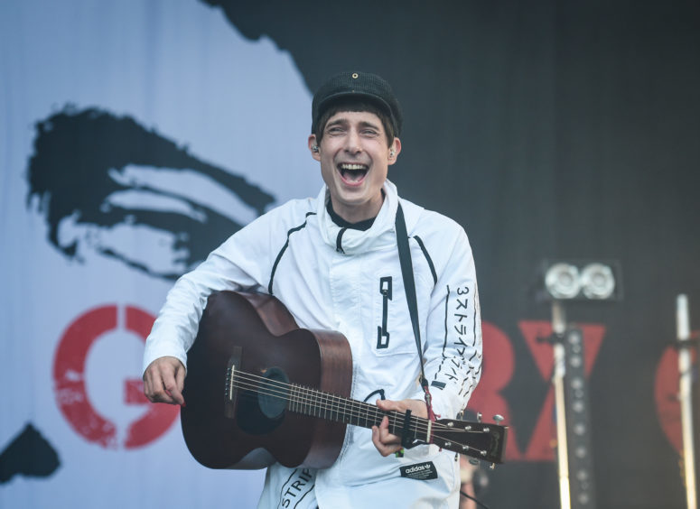 Gerry Cinnamon performs on the Garden stage