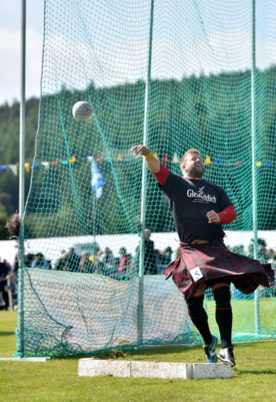 Highland Games in action.