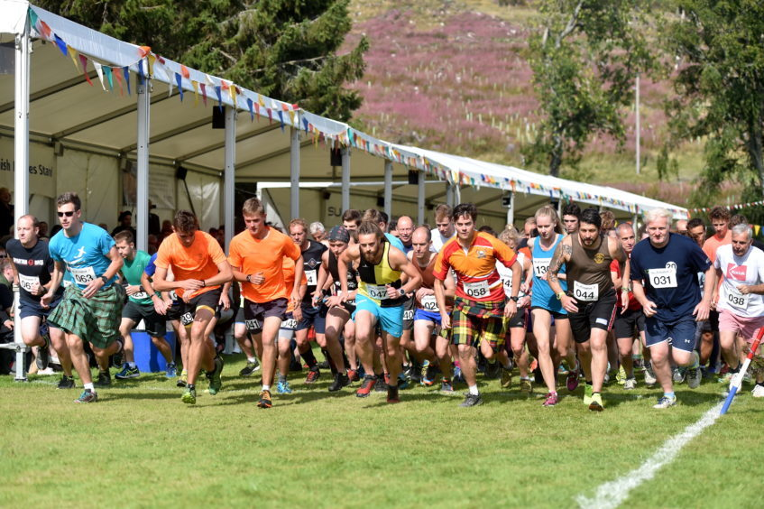 The Hill race starting line.