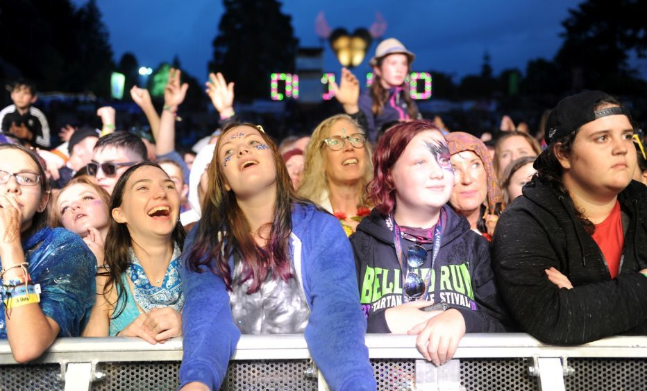 Picture by SANDY McCOOK  3rd August '18 Belladrum 2018 Friday night.  Fans enjoy the Amy Macdonald headline act late on Friday night.