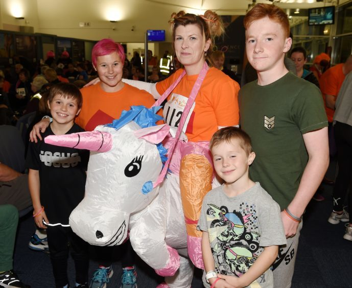 (L-R) Cameron and Lizzie King, Jacqui MacVicar, Liam and Josh King, all of Inverness.