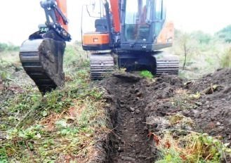 A test scrape conducted at the site of the new hospital for Skye and Lochalsh