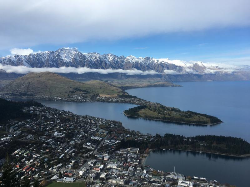 New Zealand - View over Queenstown