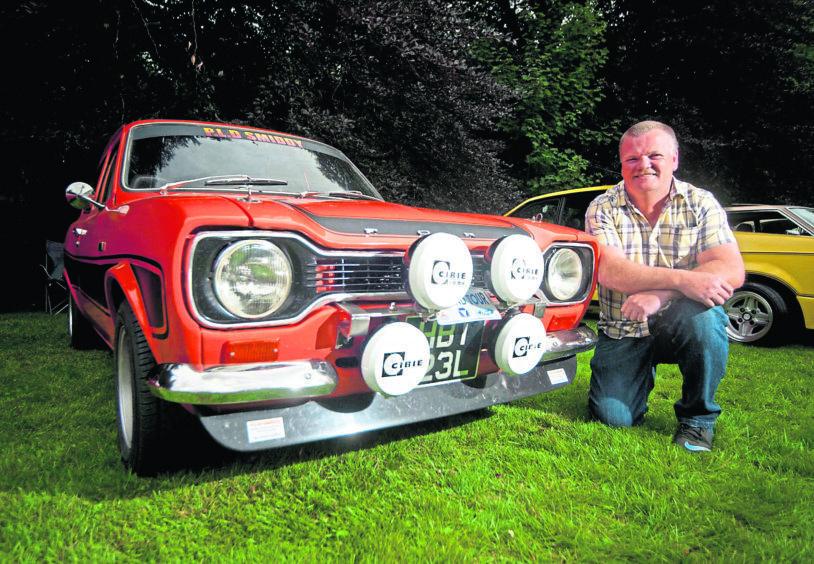 Paul Stuart with his Ford Escort MK1