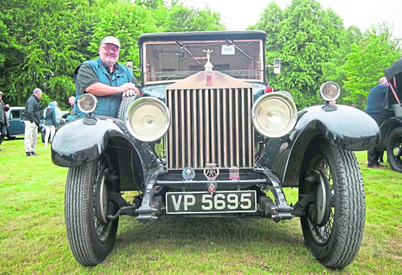 Alan Croxford and his 1929 Rolls Royce saloon