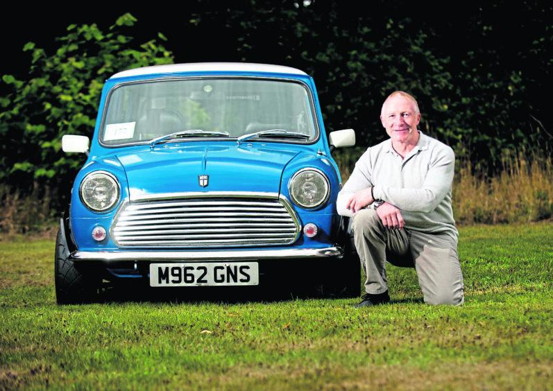 David Everleigh  and his Mini MK 4