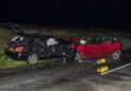 The scene of the serious RTC on the A952 Mintlaw to Fraserburgh Road.