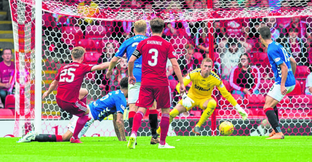 Aberdeen drew 1-1 with Rangers on the opening day of the season.