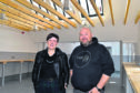 SCOTT MCINTYRE AND KATE PICKERING WHO WILL BE OPENING THE SMIDDY IN BANFF AS A SILVERSMITH  WORKSHOP.