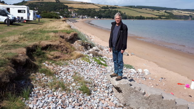 Coastal erosion costs in black isle village take toll on local the site of coastal erosion in rosemarkie thecheapjerseys Image collections