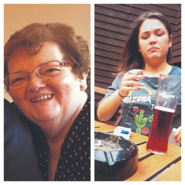 Dorothy Cruickshank (left) died after the crash caused by 19-year-old Kathryn Forman, who herself sustained serious injuries.
