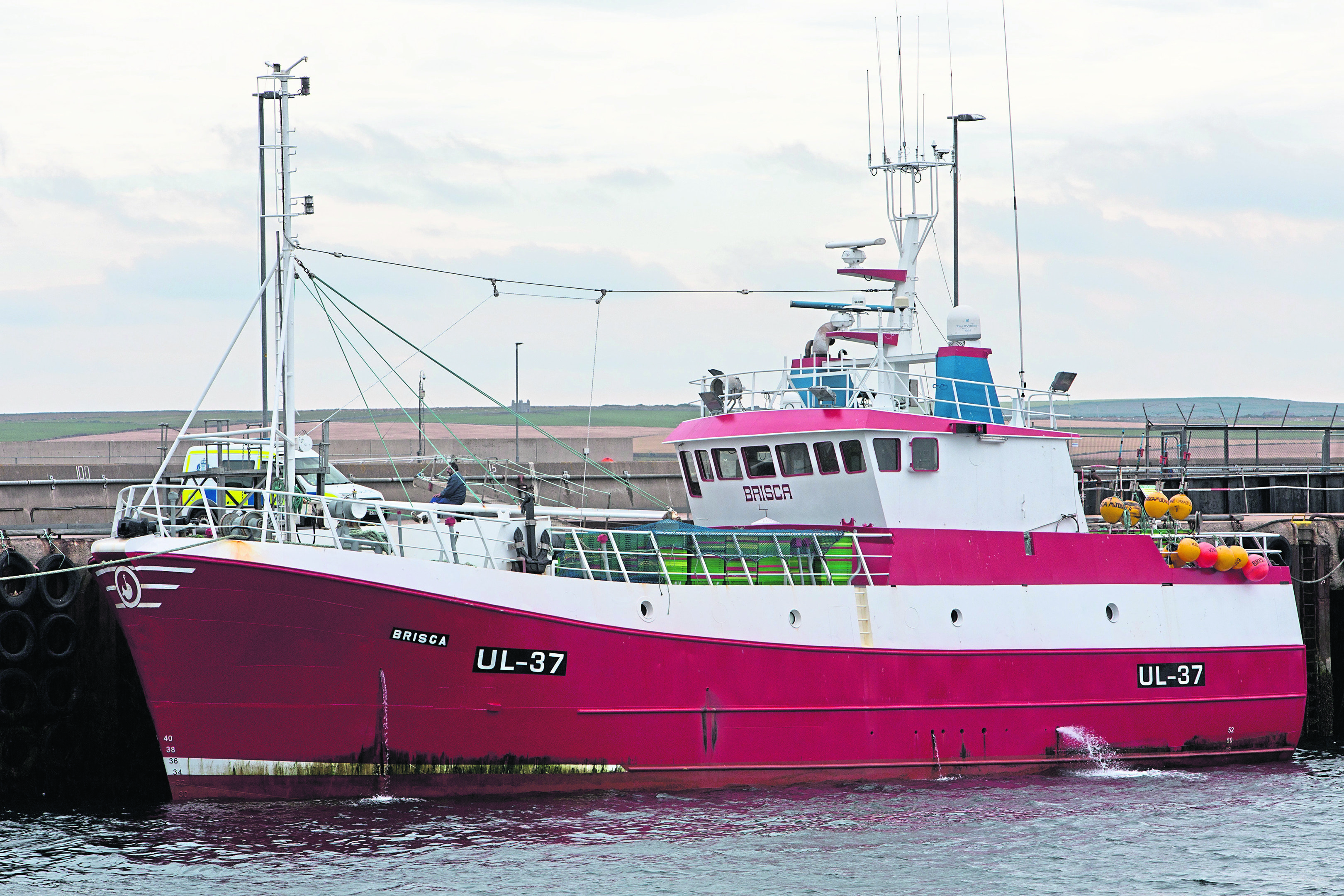 Man arrested after 'stabbing' on fishing boat berthed in