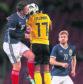 Callum McGregor and Stuart Armstrong of Scotland.