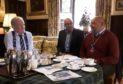 Lto R Stewart Stevenson MSP; Cllr Alastair Forsyth; and Ian Hawkins talking about the Trusts strategy