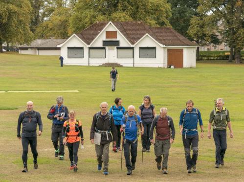 North West Grampian, Long Distance Walking Association members on their 50-mile walk.