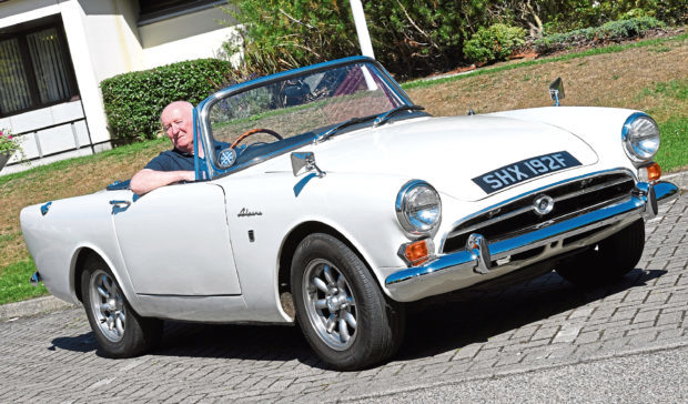 Ron Moir and his Sunbeam Alpine.    Picture by Kami Thomson.