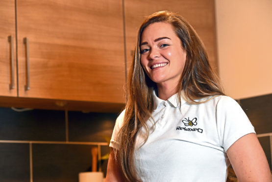 Former project manager Rachel Duthie retrained in sports massage and was Therapist of the Year.