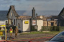 The Beach Bar in Lossiemouth has been reduced to a ruin.