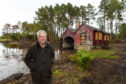 Brian Higgs, chairman of Finderne Community Council, at Loch of Blairs.