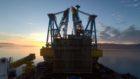 BP dismantling the Miller platform.