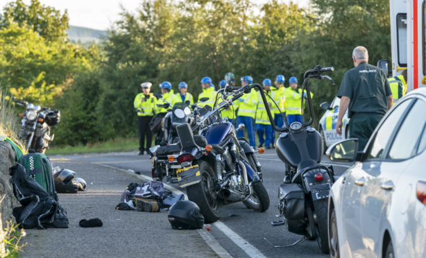 Police were called to the scene on the A98 in Cullen.