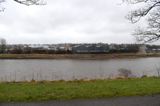 Land on the South side of the River Dee between Victoria Bridge and Aberdeen University Boat Club, where Aberdeen Harbour Group want to build houses. Photo taken fron North Esplanade West. 06/03/18. Picture by KATH FLANNERY