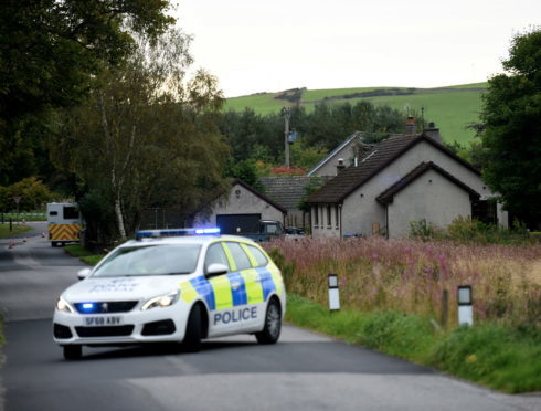 Police at the incident in Sauchen.